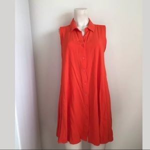 Catherine Malandrino Sleeveless Orange Dress